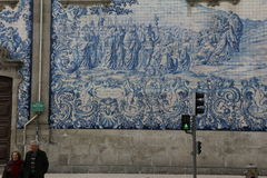 À un certain coin, ville de Porto Photographie stock libre de droits