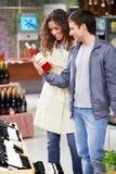 À un choix de vin images stock