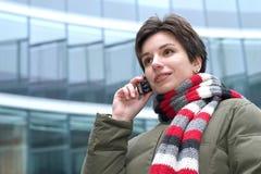 À un téléphone image libre de droits