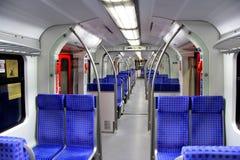 À unités multiples électrique de Francfort S-Bahn Images libres de droits