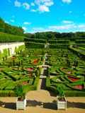 À Villandry de Jardins Imagenes de archivo