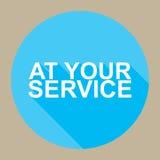 À votre service illustration libre de droits