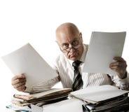 À vous un problème avec des documents ! Image stock