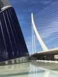 The Àgora And the Assut de l'Or Bridge Royalty Free Stock Photos