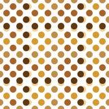 Às bolinhas bege, marrons e do ouro Foto de Stock Royalty Free