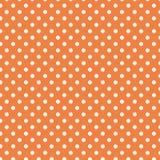 Às bolinhas brancos pequenos na laranja pastel Fotos de Stock