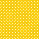 Às bolinhas brancos pequenos no amarelo Imagem de Stock Royalty Free