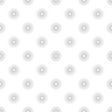 Às bolinhas em Grey Gradient Circles de linhas múltiplas nos vagabundos brancos Imagens de Stock Royalty Free