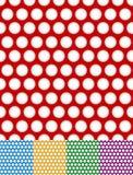 Às bolinhas, fundos pontilhados Testes padrões repetíveis com círculos ilustração do vetor