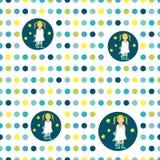 Às bolinhas liso colorido do papel de parede da repetição. Imagens de Stock
