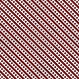 Às bolinhas pequenos vermelhos e brancos e repetição Backgr do teste padrão das listras Fotografia de Stock