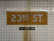 2á estação de metro da rua Fotografia de Stock