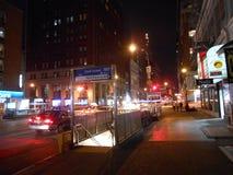 2á estação do metro e do trajeto do MTA da rua Fotografia de Stock