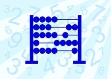 Ábaco azul stock de ilustración