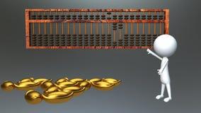 Ábaco da contabilidade Imagem de Stock Royalty Free