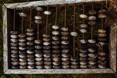 Ábaco de madeira velho fotografia de stock royalty free