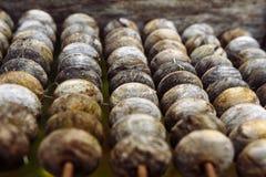 Ábaco de madeira velho imagem de stock