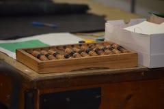 Ábaco de madera del vintage Foto de archivo libre de regalías