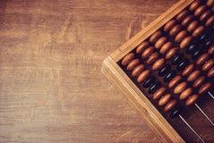 Ábaco de madera viejo Fotografía de archivo