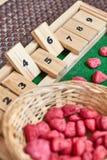 Ábaco de Montessori para contar fotografia de stock royalty free