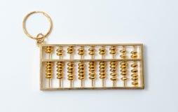 Ábaco de oro chino Imagenes de archivo