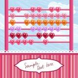Ábaco Loving dos corações Fotos de Stock Royalty Free