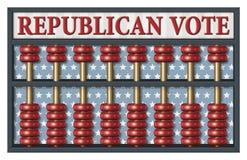 Ábaco republicano de la elección Foto de archivo libre de regalías