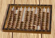 Ábaco retro en la tabla Foto de archivo libre de regalías