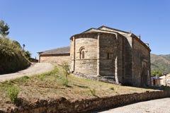 Ábside de Santiago Church en Villafranca del Bierzo Imagen de archivo