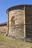 Ábside de Santiago Church en Villafranca del Bierzo Foto de archivo libre de regalías