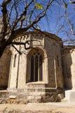 Ábside del monasterio del romanesque de Sant Cugat, Barcelona Fotografía de archivo libre de regalías