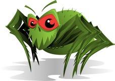 Ácaro de araña espeluznante stock de ilustración