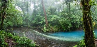 Ácido/agua azul de Rio Celeste Fotos de archivo