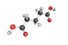 Ácido de Pentandioic, también conocido como ácido lutaric, un compoun orgánico fotografía de archivo