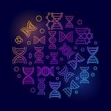 Ácido Deoxyribonucleic ou de vetor do ADN ilustração colorida Foto de Stock
