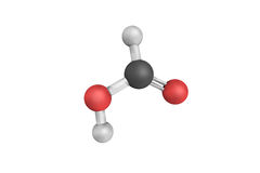 Ácido fórmico, um intermediário importante no whi químico da síntese imagens de stock