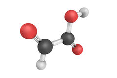 Ácido glioxílico o ácido oxoacetic, un sólido descolorido que ocurre fotos de archivo libres de regalías