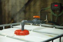 Ácido hidroclórico de la bomba química foto de archivo libre de regalías