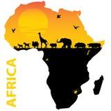 África ilustração royalty free