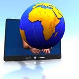 África, almofada, mãos Fotografia de Stock Royalty Free
