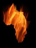 África ardiendo ilustración del vector