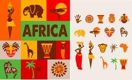 África - cartaz e fundo ilustração stock