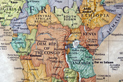 África central Imagens de Stock