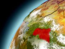África central de la órbita de Earth modelo Imagen de archivo libre de regalías