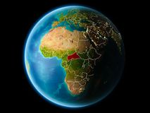 África central na noite Fotografia de Stock Royalty Free