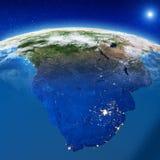 África do Sul do espaço ilustração stock
