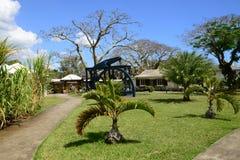 África, el pueblo pintoresco de Pamplemousses en Mauricio imágenes de archivo libres de regalías