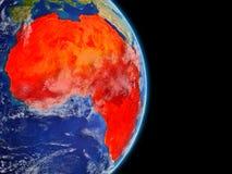 África en la tierra del planeta ilustración del vector