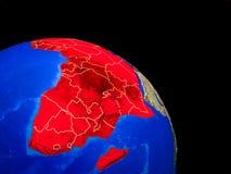 África en la tierra del planeta libre illustration