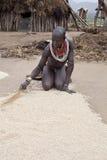 África, Etiópia sul, vale 24 de Omo 12 2009 Imagens de Stock Royalty Free